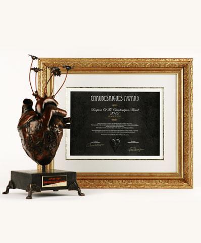 Un trophée d'exception pour un prix de tatouage unique
